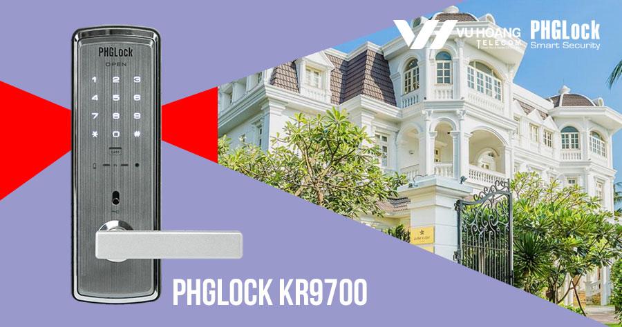 Bán khóa thông minh cho căn hộ, biệt thự PHGLOCK KR9700 giá rẻ