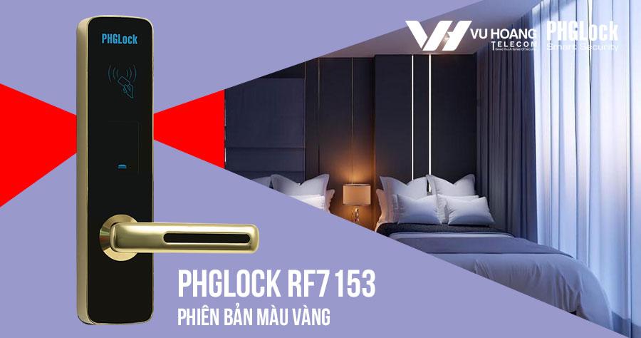 Khóa thông minh cho khách sạn PHGLOCK RF7153 (Vàng)