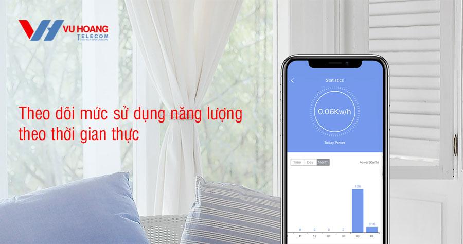 Theo dõi mức sử dụng năng lượng theo thời gian thực