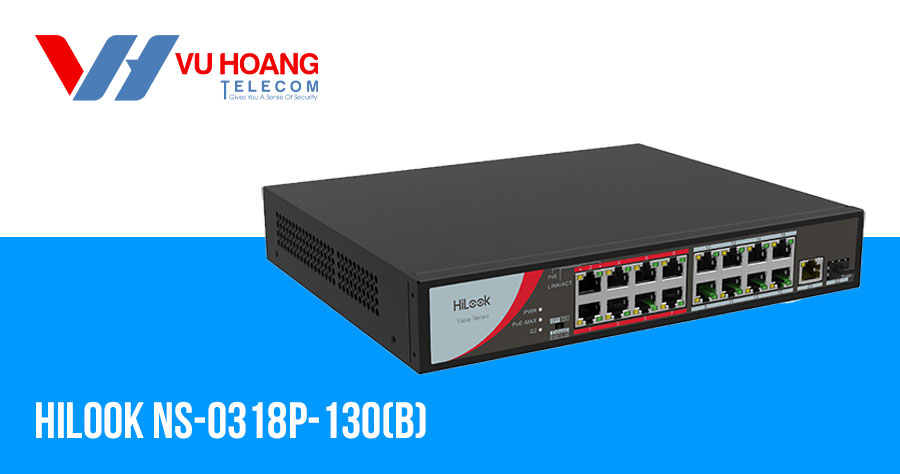 Switch 16 cổng POE 100M Hilook NS-0318P-130(B)