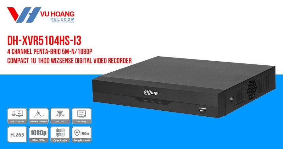 Bán đầu ghi hình IP AI 4 kênh DAHUA DH-XVR5104HS-I3 giá rẻ