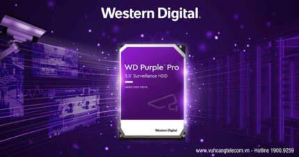 WD ra mắt dòng ổ cứng Purple Pro - Giải pháp giám sát thông minh Ai