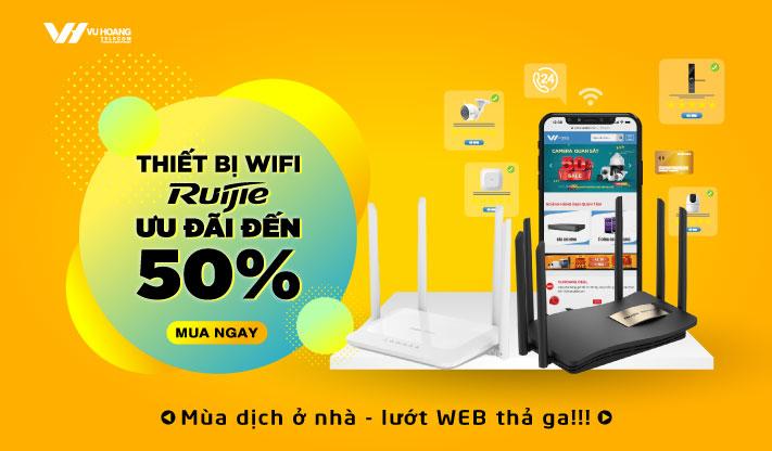 Ưu đãi thiết bị Wifi Ruijie ưu đãi 50%
