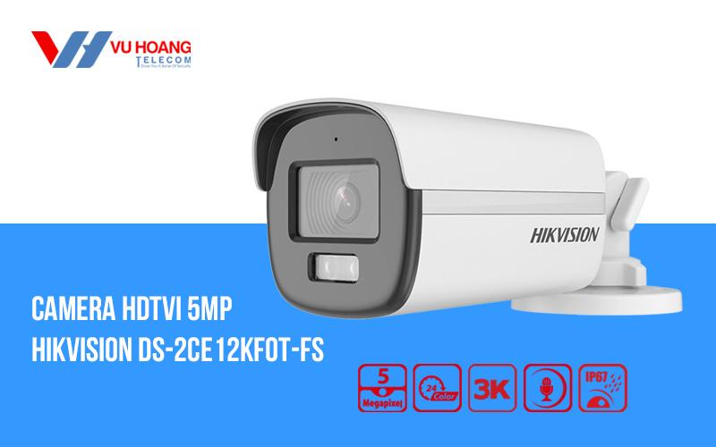 Camera HDTVI có màu ban đêm 5MP HIKVISION DS-2CE12KF0T-FS