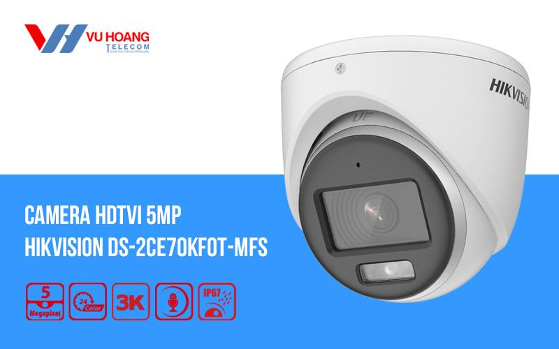 Camera HDTVI có màu ban đêm 5MP HIKVISION DS-2CE70KF0T-MFS