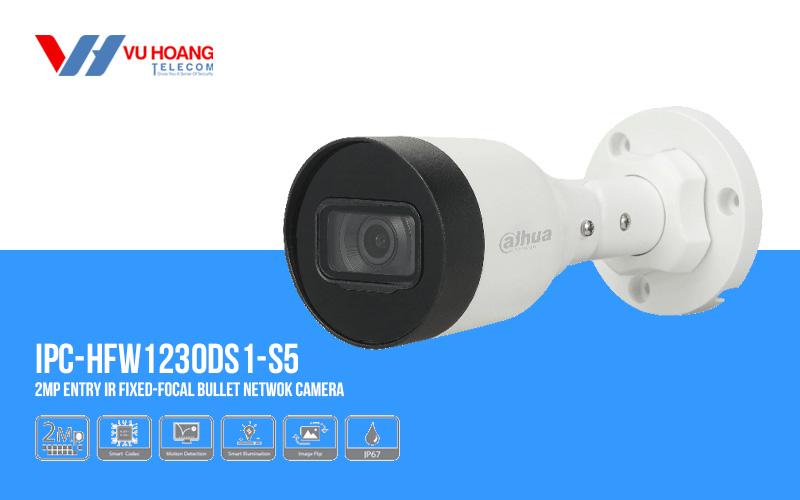 Bán camera IP Bullet 2MP DAHUA DH-IPC-HFW1230DS1-S5 giá rẻ