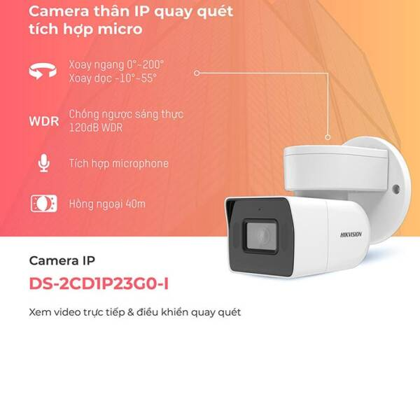 Camera HIKVISION DS-2CD1P23G0-I