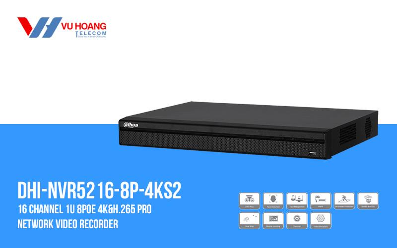 Đầu ghi IP 16 kênh DAHUA DHI-NVR5216-8P-4KS2