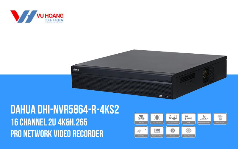 Đầu ghi IP 64 kênh DAHUA DHI-NVR5864-R-4KS2