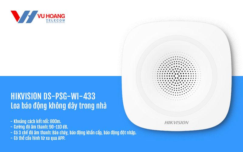 Loa báo động không dây trong nhà HIKVISION DS-PSG-WI-433