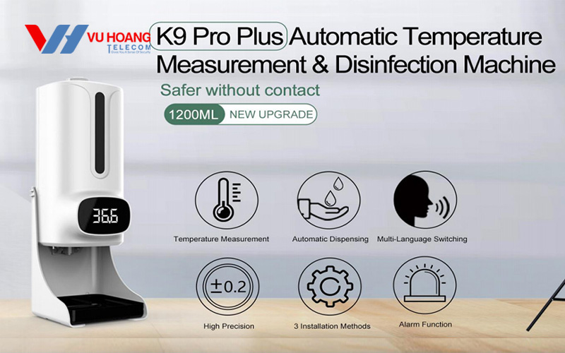 Bán máy đo nhiệt tự động xịt khuẩn K9 Pro Plus giá rẻ
