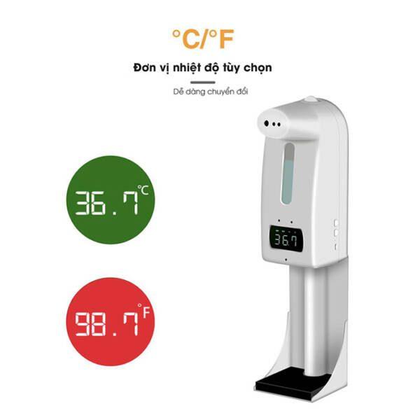 Máy đo thân nhiệt, xịt khuẩn 18 Pro/K10 Pro _ 4