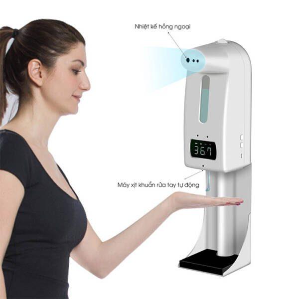 Máy đo thân nhiệt, xịt khuẩn 18 Pro/K10 Pro
