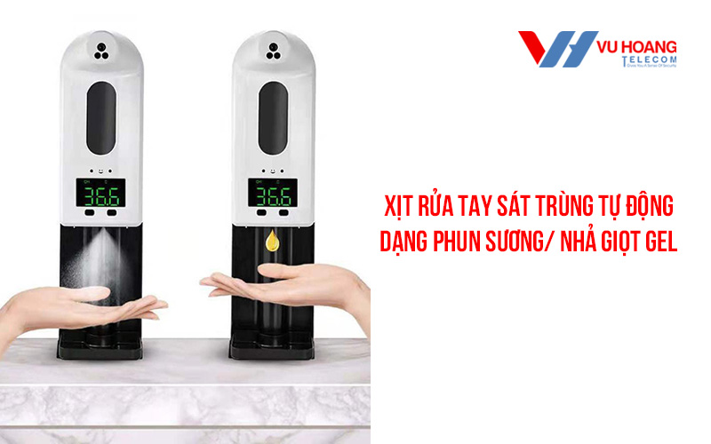Máy rửa tay và đo thân nhiệt tự động 2 trong 1 V18 Pro/ K10 Pro