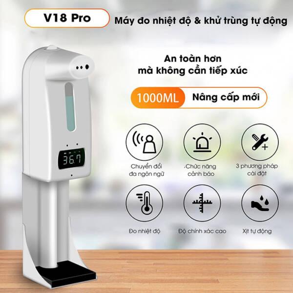Máy đo thân nhiệt, xịt khuẩn 18 Pro/K10 Pro _ 5