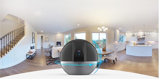 Camera EZVIZ C6W có khả năng quay quét 360 độ, cung cấp hình ảnh 2K và cả chức năng đàm thoại 2 chiều tiện lợi