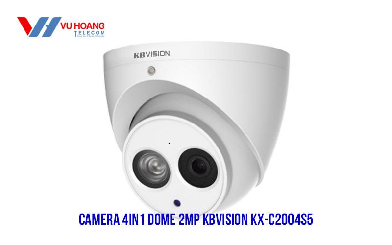 Bán camera 4in1 2MP KBVISION KX-C2004S5 giá rẻ, nhiều ưu đãi