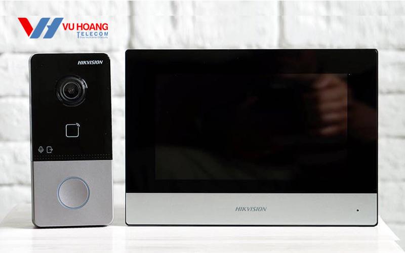 Bán nút ấn camera chuông cửa Hikvision DS-KV6113-WPE1(B) giá rẻ