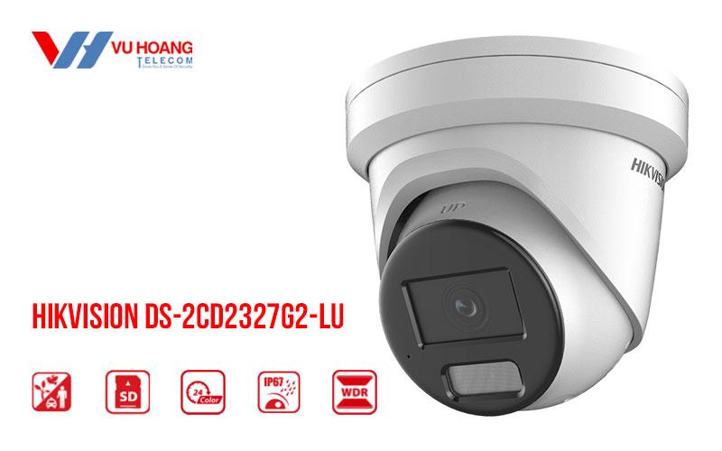Camera IP Colorvu 2MP HIKVISION DS-2CD2327G2-LU tích hợp MIC
