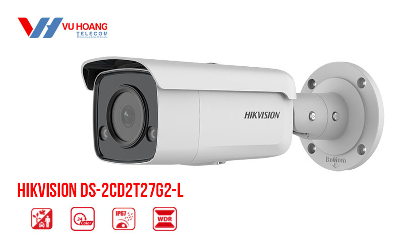 Bán camera IP Colorvu 2MP HIKVISION DS-2CD2T27G2-L giá rẻ