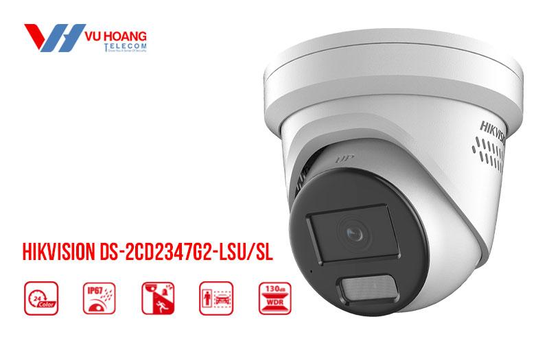Bán camera IP Colorvu 4MP HIKVISION DS-2CD2347G2-LSU/SL giá rẻ