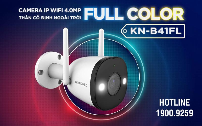 Bán camera IP wifi Full Color 4MP KBONE KN-B41FL giá rẻ