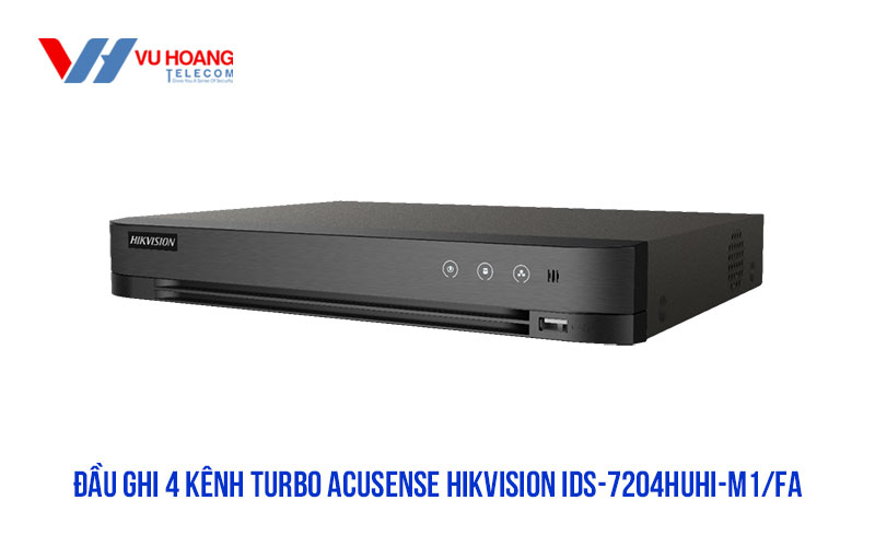 Đầu ghi 4 kênh Turbo ACUSENSE HIKVISION iDS-7204HUHI-M1/FA