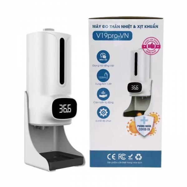 máy xịt khuẩn đo nhiệt độ V19Pro-VN giá rẻ