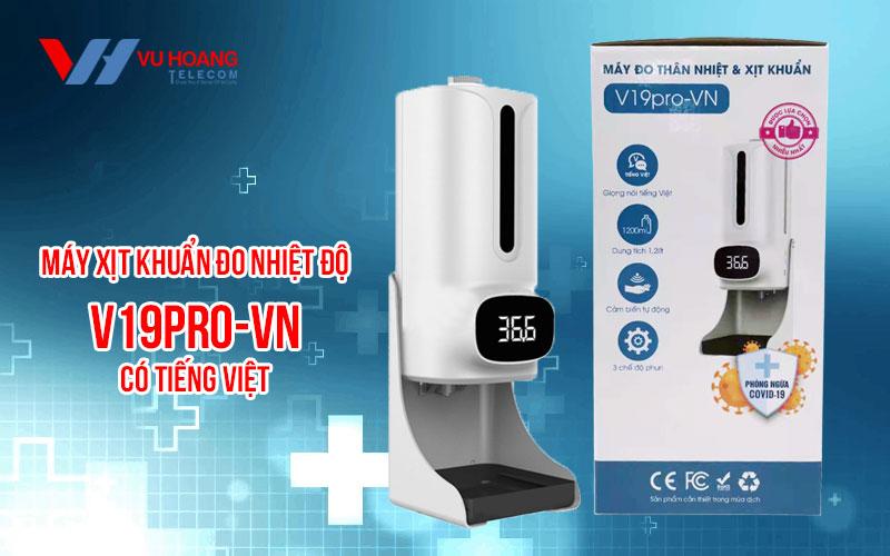 Bán máy xịt khuẩn đo nhiệt độ V19Pro-VN giá rẻ