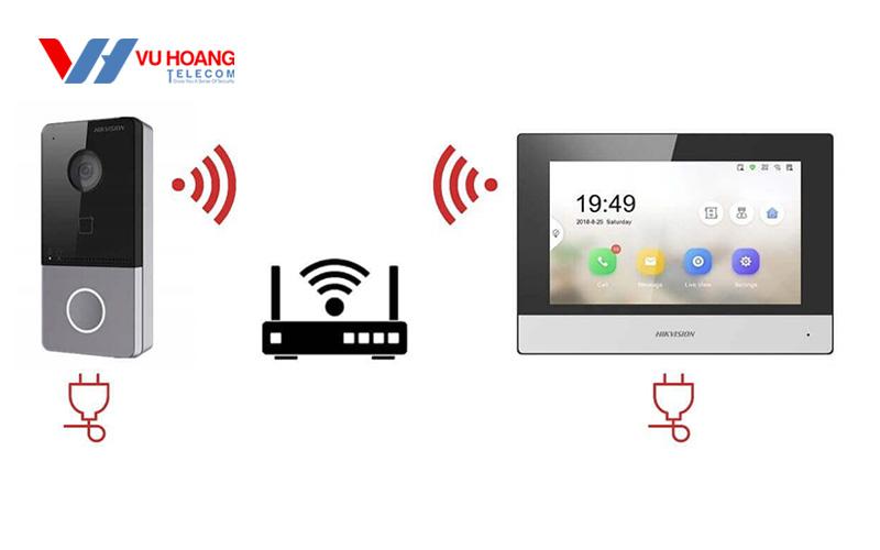 Cách kết nối nút nhấn camera HIKVISION DS-KV6113-WPE1(B)