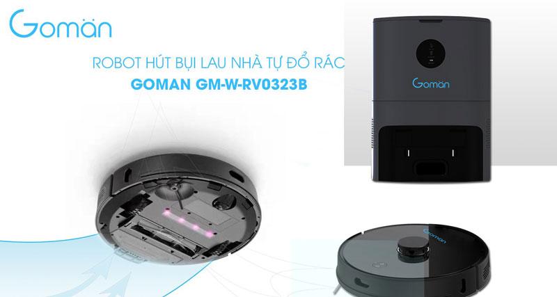 Bán Robot hút bụi lau nhà tự đổ rác GOMAN GM-W-RV0323B cao cấp