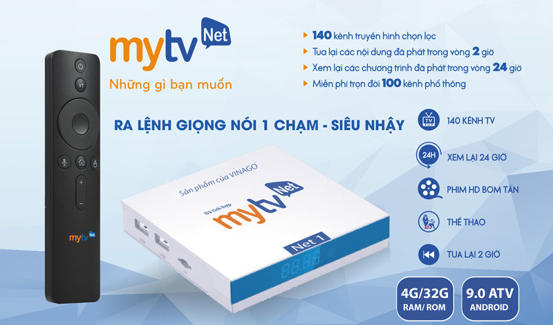 Android Box MyTV NET1 Ram 4G, Rom 32G
