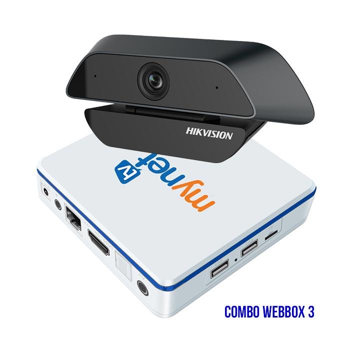 Combo WEBBOX 3 MYNET TV 4H + Webcam DS-U525