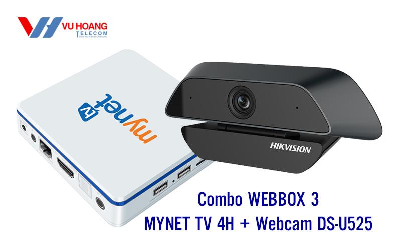 Combo WEBBOX 3 MYNET TV 4H + Webcam DS-U525 giá rẻ
