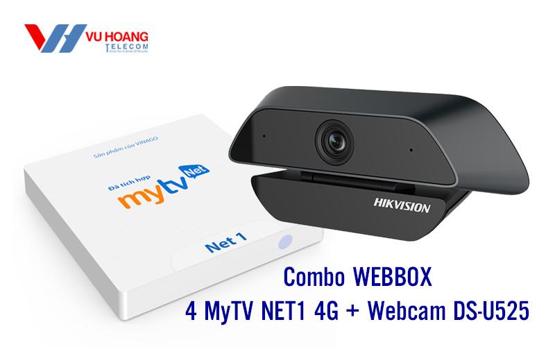 Combo WEBBOX 4 MyTV NET1 4G + Webcam DS-U525
