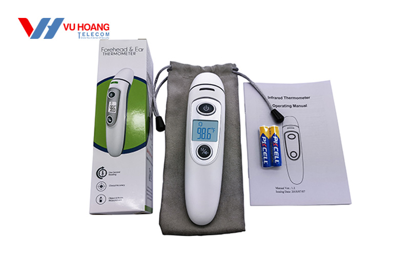 Trọn bộ nhiệt kế điện tử hồng ngoại Finicare FC-IR100