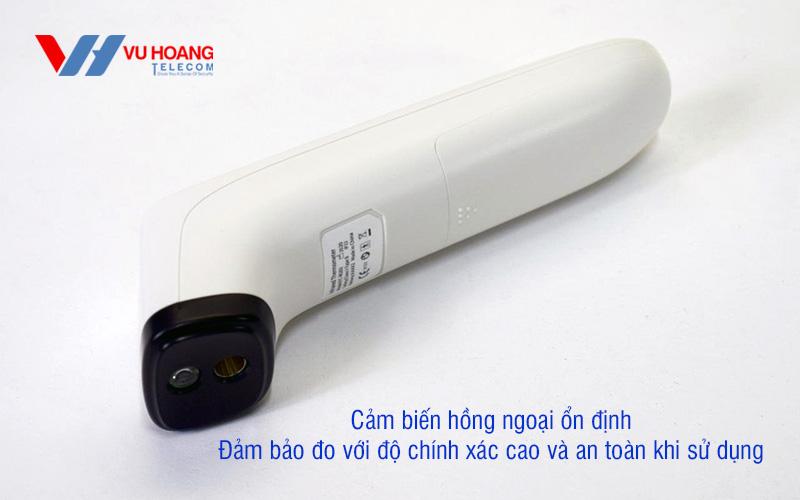 Cảm biến hồng ngoại ổn định, đảm bảo đo với độ chính xác cao và an toàn khi sử dụng