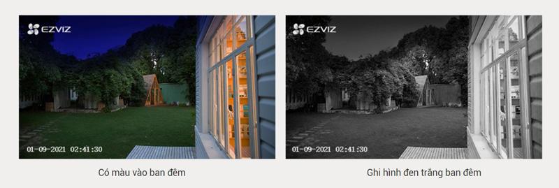 EZVIZ BC1C cho tầm nhìn ban đêm sống động