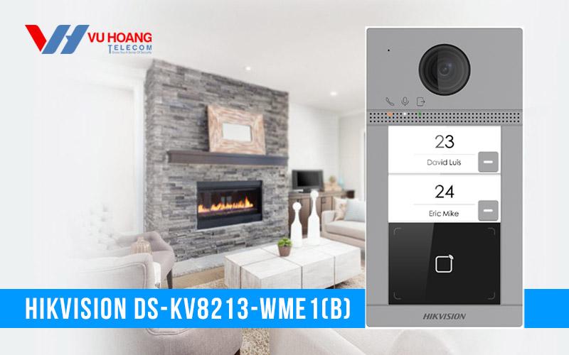 Nút bấm IP 2 cổng cho villa HIKVISION DS-KV8213-WME1(B) giá rẻ
