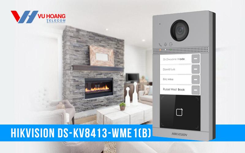 Nút bấm IP 4 cổng cho villa HIKVISION DS-KV8413-WME1(B) giá rẻ